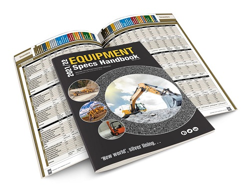 The Equipment Specs Handbook 2021/22, your go-to manual for mining, construction and quarry equipment. Image credit: Interact Media Defined